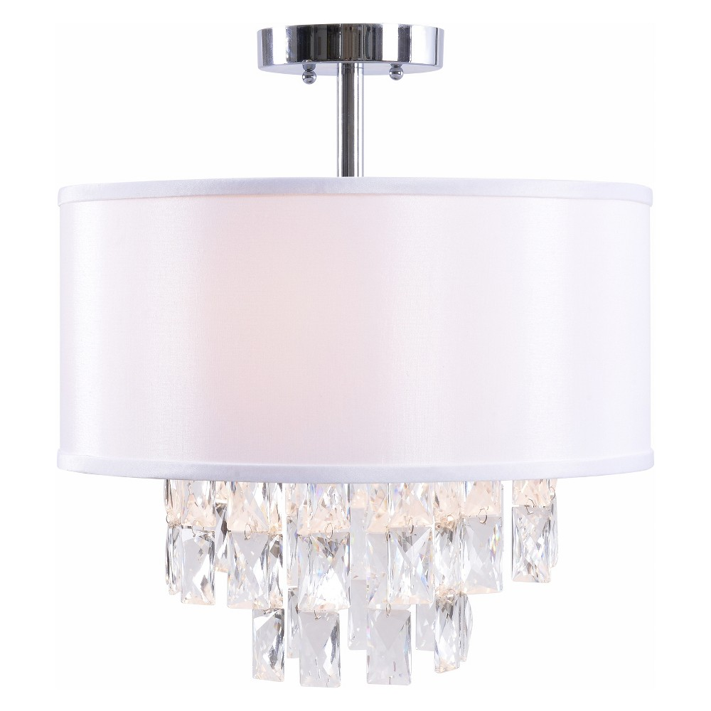 Ophelia 2 Light Semi Flush Ceiling Lights - Kenroy Home, Multi-Colored