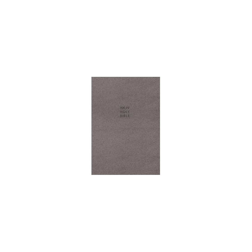 Holy Bible : New King James Version, Gray, Cloth Over Board, Single-Column Reference, Comfort Print