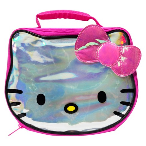 O Kitty Lunch Bag With Hologram And Sequins