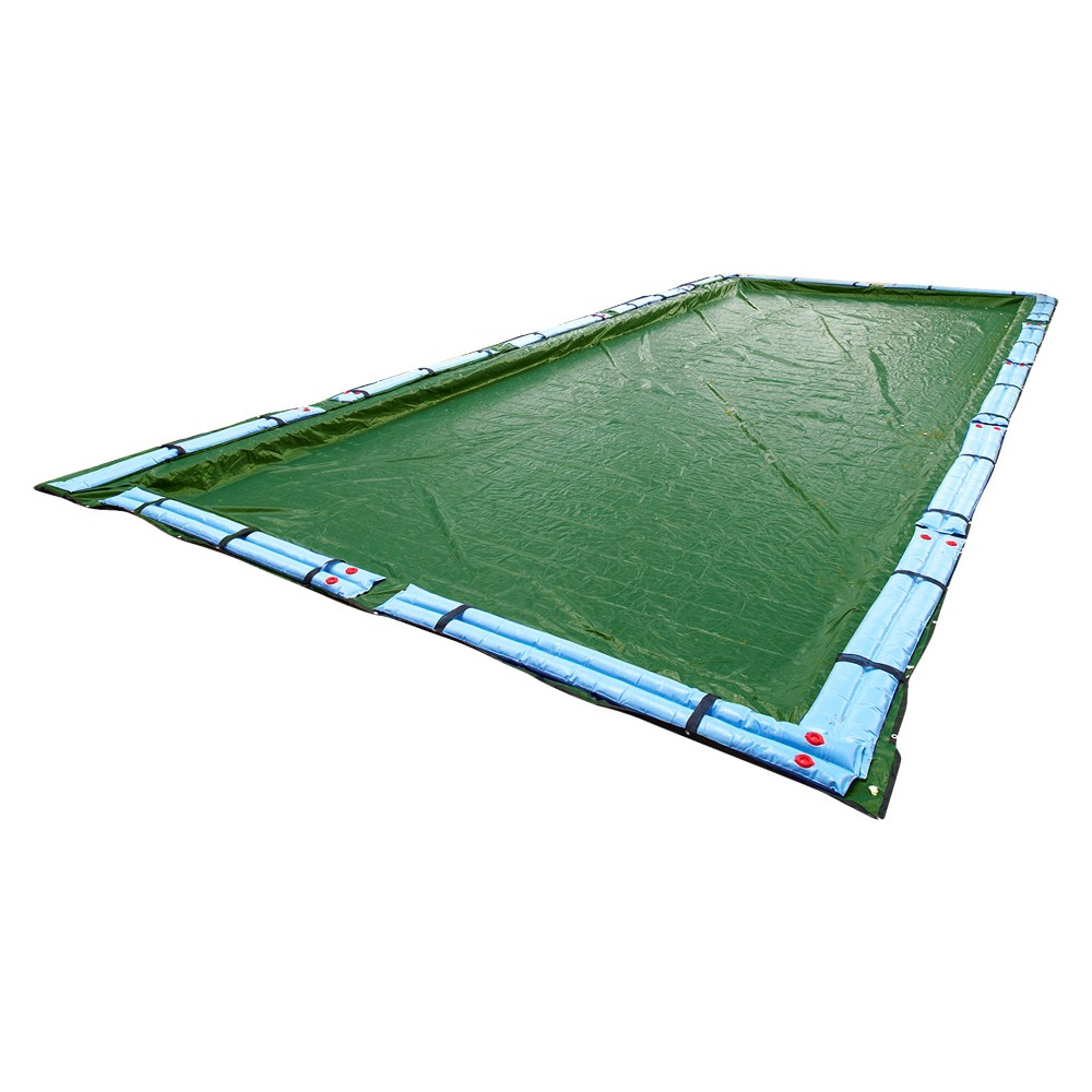 Blue Wave Silver 12-Year 14-ft x 28-ft Rect. In-Ground Pool Winter Cover, Multicolored