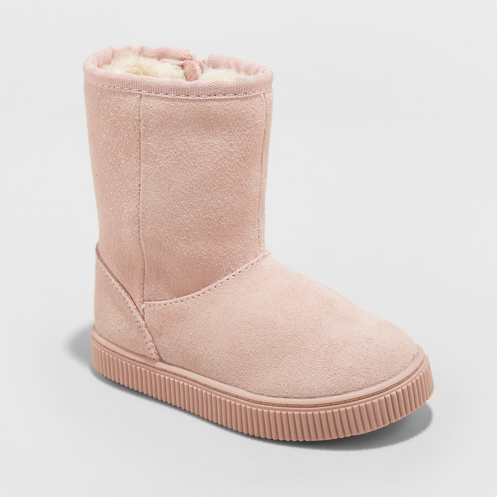 Toddler Girls' Kya Suede Ankle Fashion Boots - Cat & Jack Pink 7