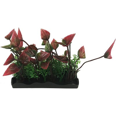 Penn-Plax Aqua-Scaping Medium Green & Purple Bunch Plant 5 Piece