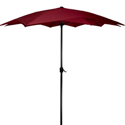 Northlight 8.85ft Outdoor Patio Lotus Umbrella with Hand Crank, Burgundy