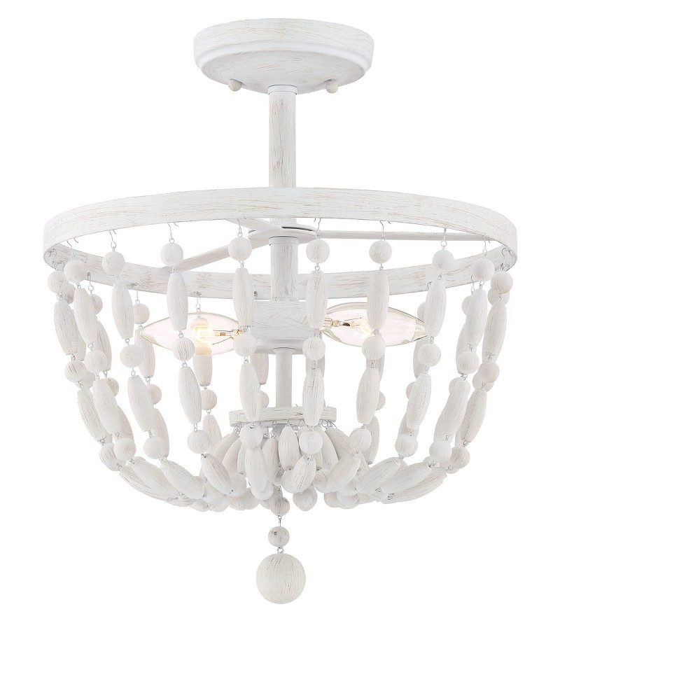 Image of Ceiling Lights Semi-Flush Mount Distressed Wood - Aurora Lighting
