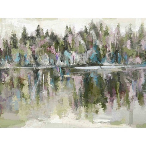 Lakehouse View Pastels By Studio Arts Wrapped Unframed Wall Canvas - Masterpiece Art Gallery - image 1 of 4