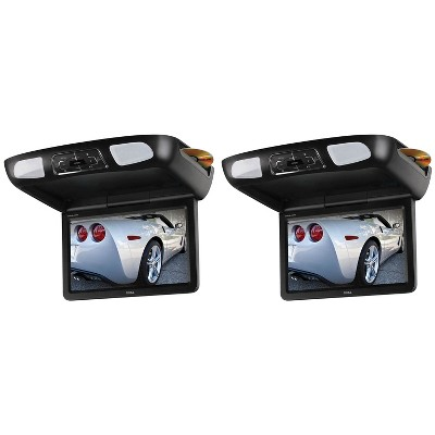 Boss Flip Down 10.1Inch Monitor Screen DVD CD SD MP3 Player w/ Remote (2 Pack)
