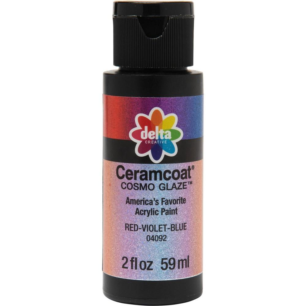 Delta Ceramcoat Cosmo Glaze Acrylic Paint (2oz) - Red-Violet-Blue