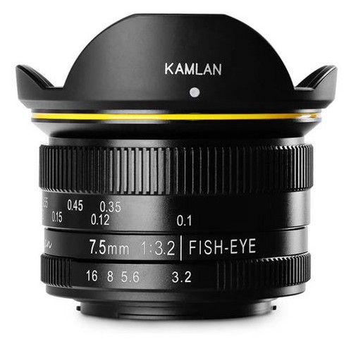 KamLan 7.5mm f/3.2 Manual Focus Fisheye Lens for Micro Four Thirds Mount - image 1 of 4