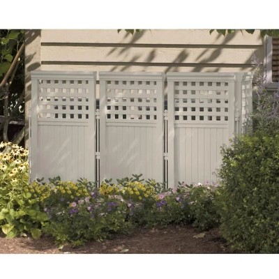 Suncast FS4423T Outdoor Garden Yard 4 Panel Screen Enclosure Gated Fence, Taupe