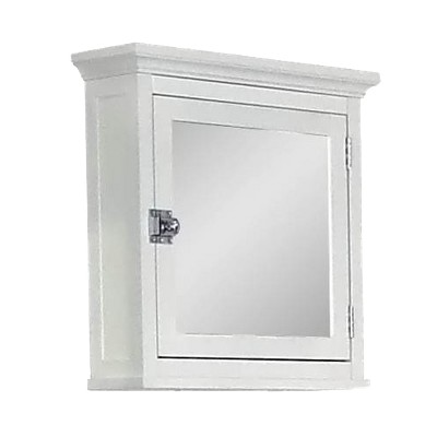 Madison Avenue Medicine Wall Cabinet 1 Door White - Elegant Home Fashions