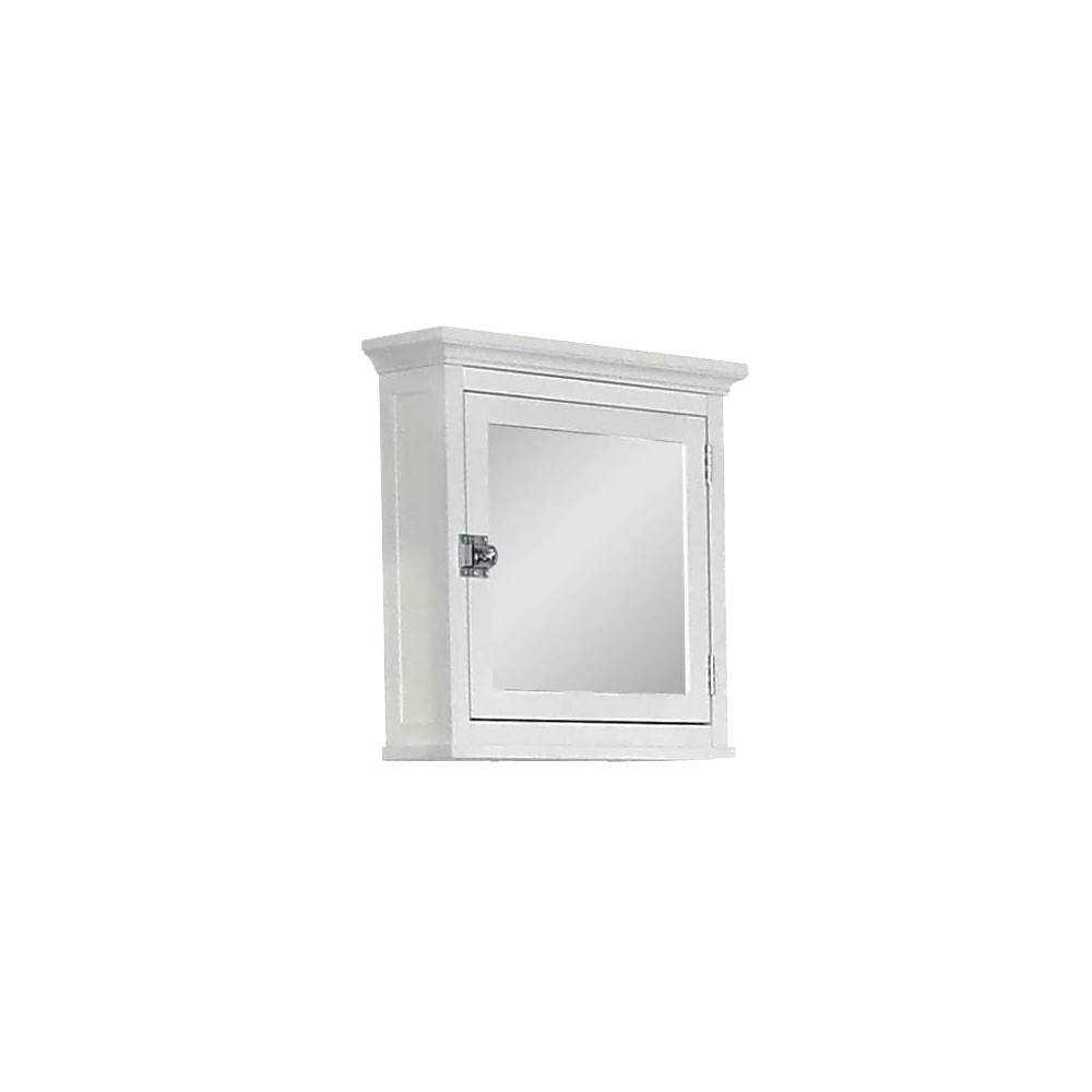 Image of Madison Avenue Wall Cabinet 1 Door White - Elegant Home Fashions