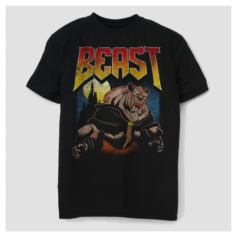 88d323084 Men's Beauty And The Beast Poster Graphic T-Shirt - Black : Target