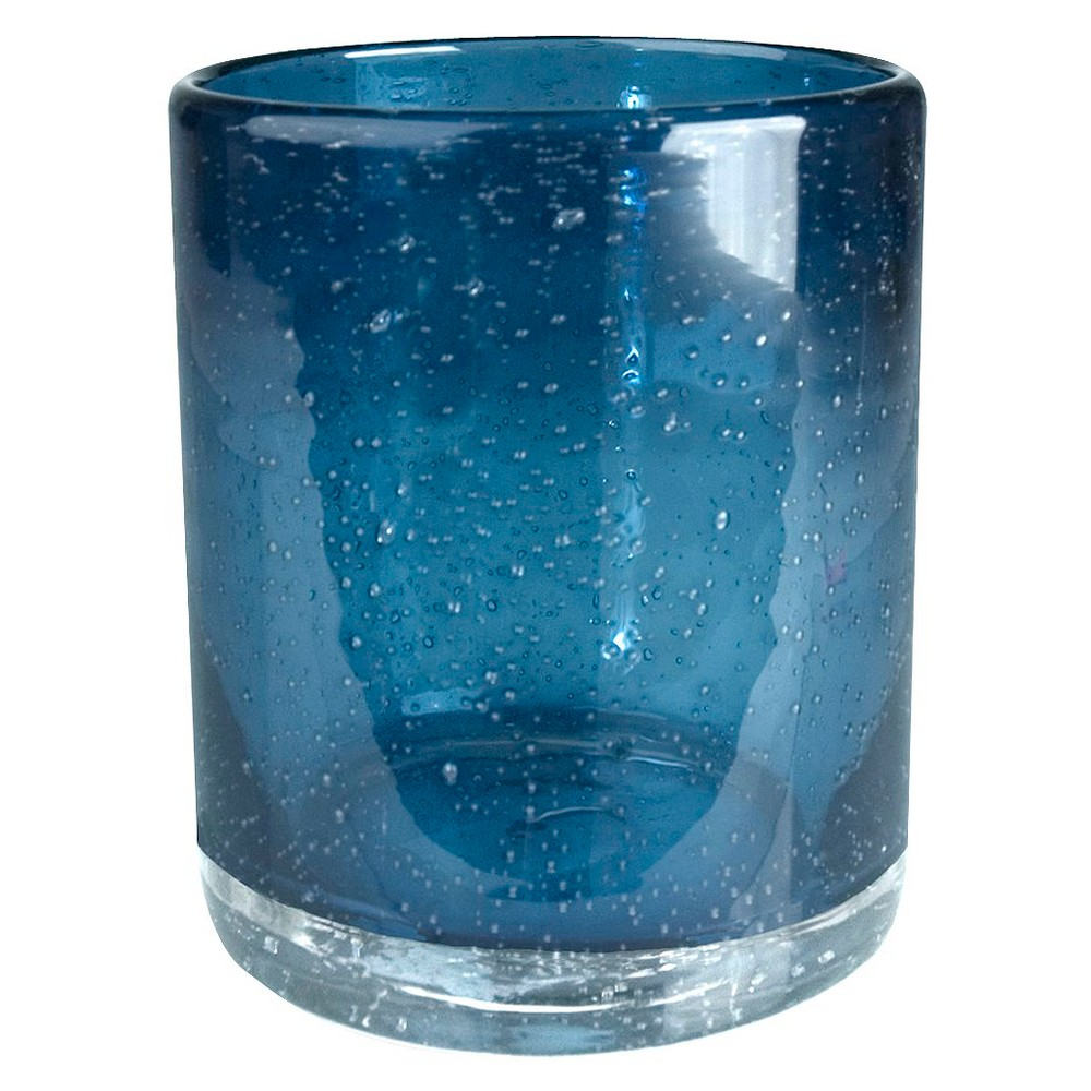 Image of Artland 14oz 4pk Bubble Double Old-Fashioned Glasses Blue