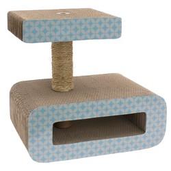 Oval Corrugate Scratch Block Perch Pet Scratch Center - Boots & Barkley™