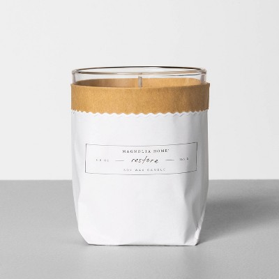5.8oz Bagged Glass Jar Candle Restore - Magnolia Home by Joanna Gaines