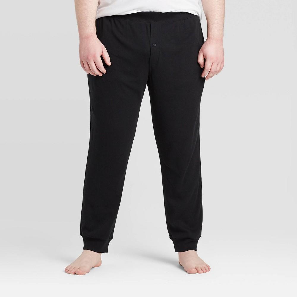 Men 39 S Big 38 Tall Knit Jogger Pajama Pants Goodfellow 38 Co 8482 Black 2xb