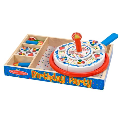 Melissa Doug Birthday Party Cake Wooden Target