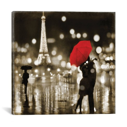 "26"" x 26"" A Paris Kiss by Kate Carrigan Canvas Print - iCanvas - image 1 of 4"