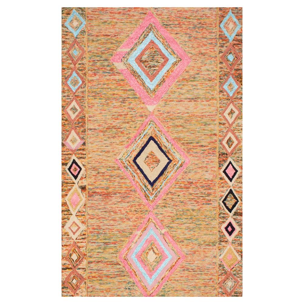 nuLOOM Hand Tufted Bokja Area Rug (5' x 8'), Multicolored