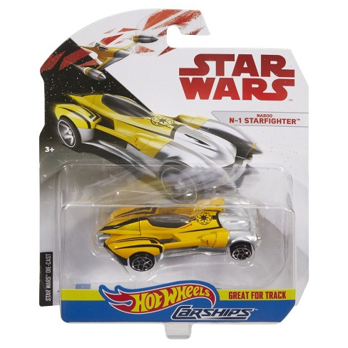 Hot Wheels Star Wars: The Last Jedi - Naboo N-1 Starfighter Carship Vehicle - image 1 of 2