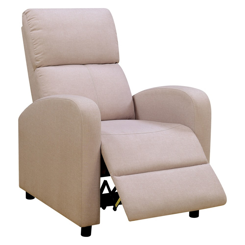 Iohomes Highland Contemporary Fabric Push Back Recliner Chair Beige - Homes: Inside + Out