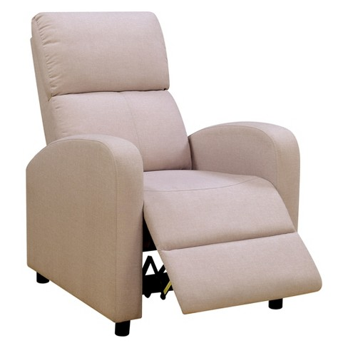 Iohomes Highland Contemporary Fabric Push Back Recliner Chair Beige - HOMES: Inside + Out - image 1 of 3