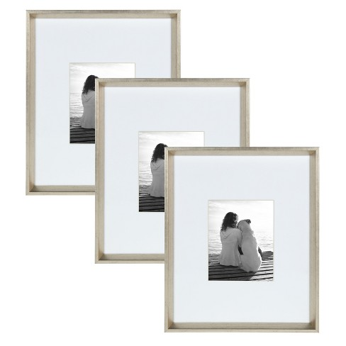 16x20 Calter Wall Picture Frame Set Silver Kate Laurel All