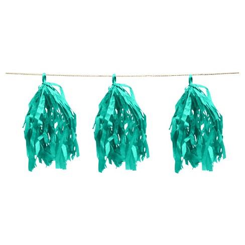 Green Tassel Garland - Spritz™ - image 1 of 1