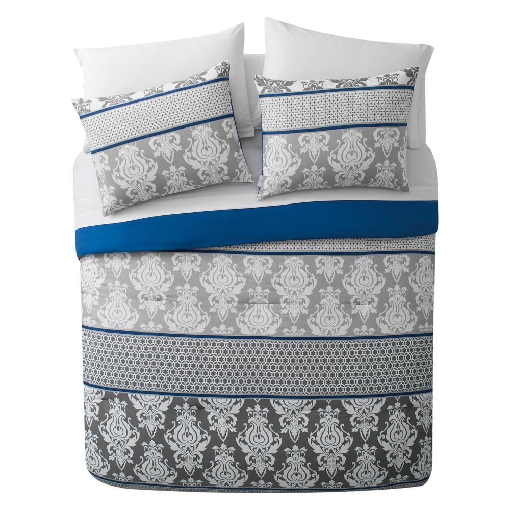 8pc King Beckham Bed In A Bag Comforter Set Blue Vcny Home