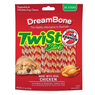 DreamBone Twist Sticks with Chicken Dog Treats