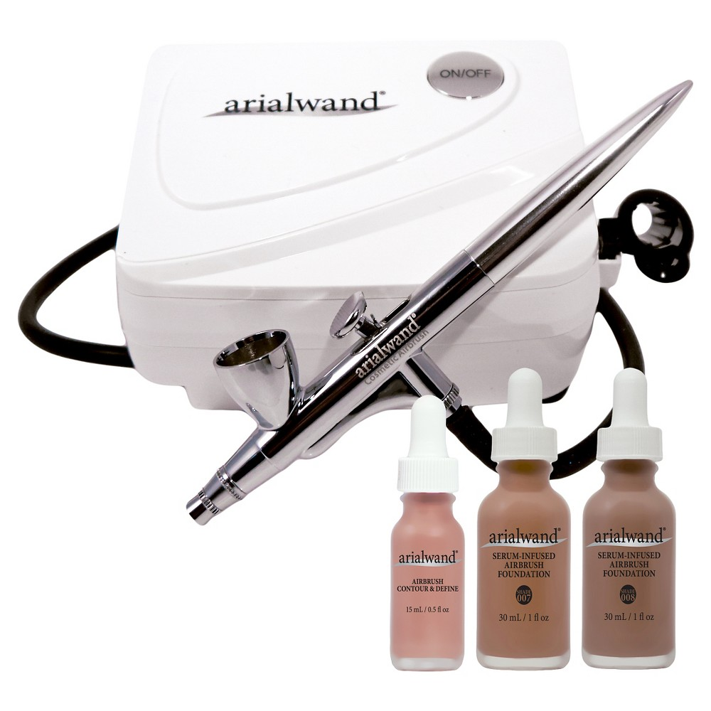 Image of Arialwand Airbrush Kit with Serum Infused Foundation Deep - 1 fl oz
