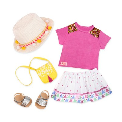 """Our Generation Travel Fashion Outfit for 18"""" Dolls - Vacation Style - Pink"""