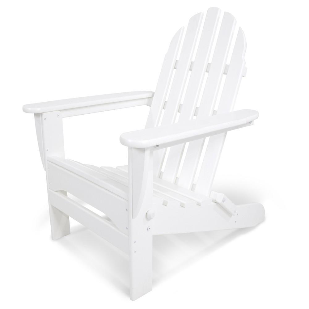 Polywood Classic Folding Patio Adirondack Chair - White