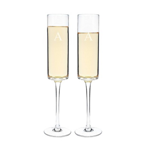 Monogram Contemporary Champagne Flutes - 2ct - image 1 of 4