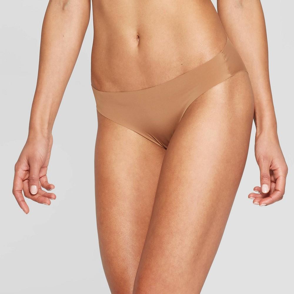 961edec0968 Womens Laser Cut Cheeky Bikini Auden Caramel L