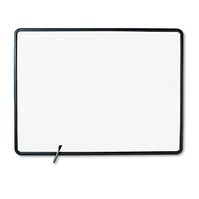 Quartet Contour Dry-Erase Board Melamine 48 x 36 White Surface Black Frame 7554