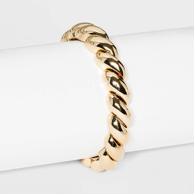 SUGARFIX by BaubleBar Bold Croissant Stretch Bracelet - Gold