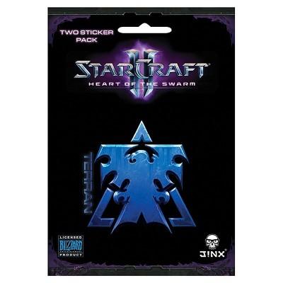 JINX Inc. StarCraft II: Heart of the Swarm Multi-size Sticker 2-Pack: Terran, Blue
