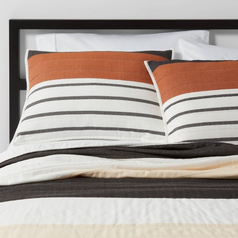 Stripe Woven Yarn Dye Quilt Cream - Project 62™ + Nate Berkus™ - image 1 of 4