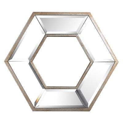Hexagon Small Wall Mirror Clear - A&B Home