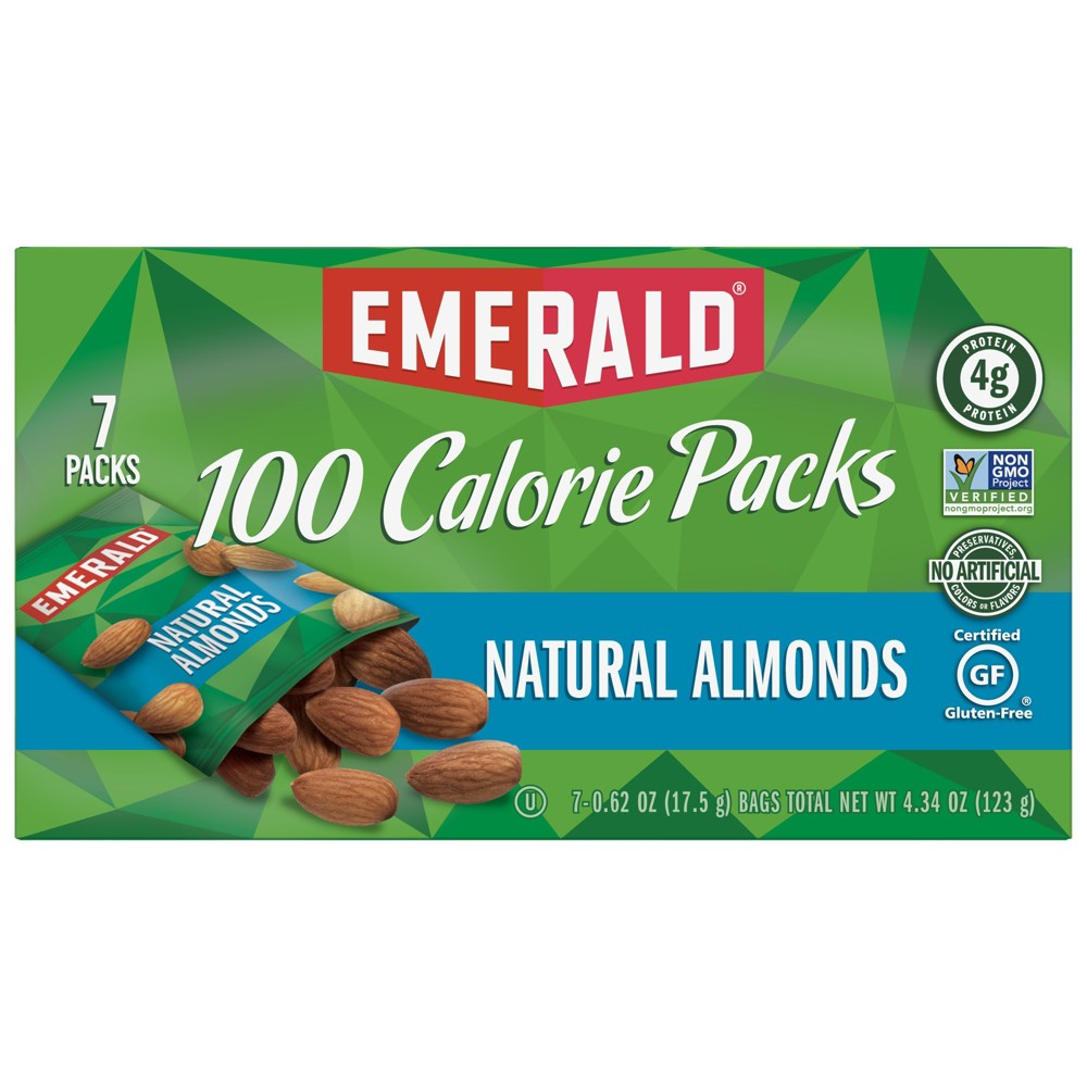 Emerald Natural Almonds 100 Calorie Packs - 7ct