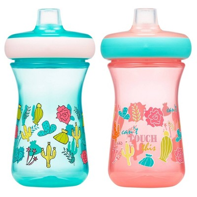 The First Years Non Insulated Soft Spout Sippy 2pk - Pink