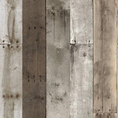 Tempaper Repurposed Wood Weathered Self-Adhesive Removable ...