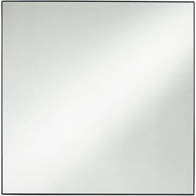 "Noble Park Aryn Matte Black 30"" Square Wall Mirror"