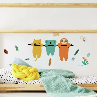 RoomMates Koala and Sloth Peel and Stick Giant Wall Decal