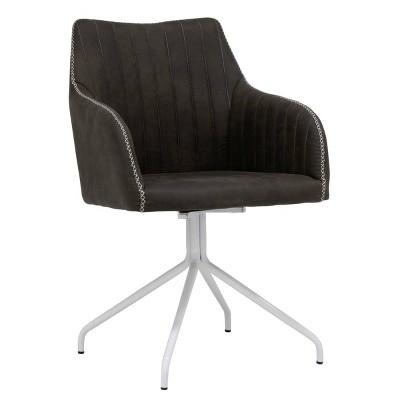 Adelaide Swivel Office Chair White/Bark Gray - Calico Designs
