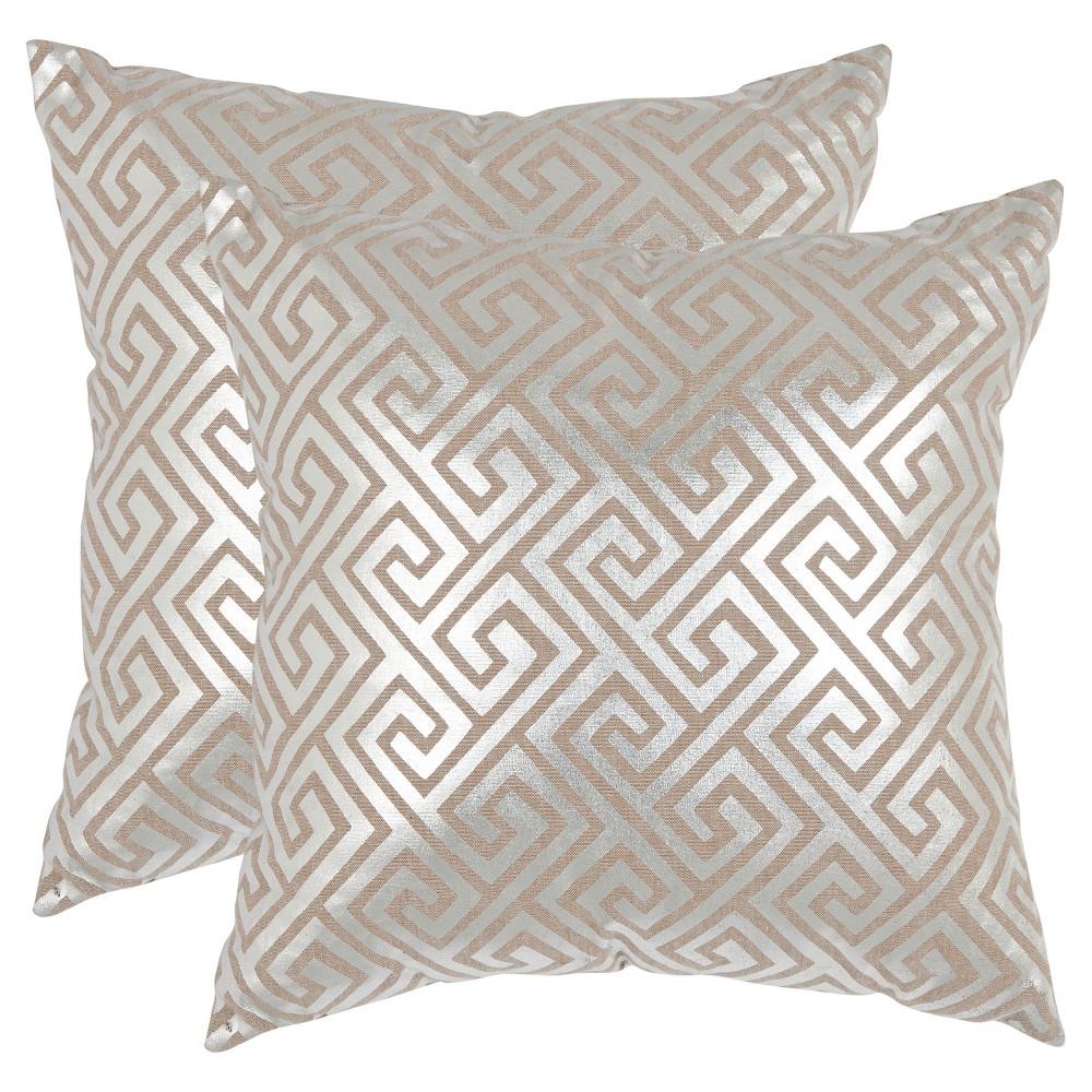 Silver Jayden Throw Pillow Set of 2 (22