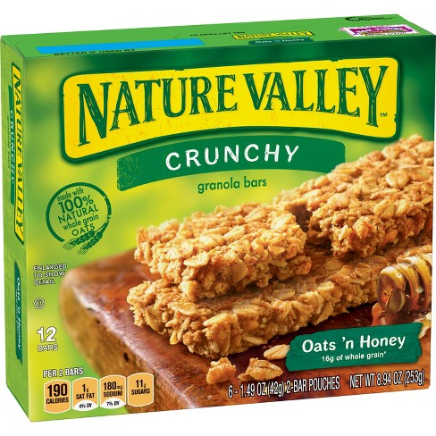 nature valley crunchy oats n honey granola bars 6ct target