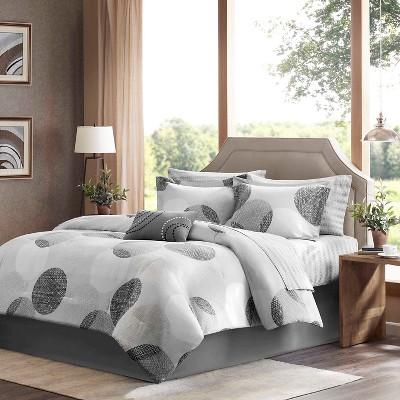 Cabrillo Comforter Set (Queen)Gray - 9pc
