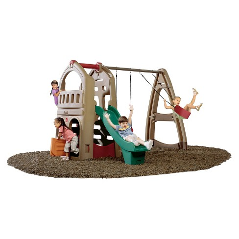 Step2 Naturally Playful Playhouse With Slide Swing Target